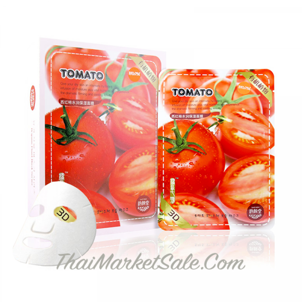 3D Natural Tomato Facial Mask / Тканевая Томатная Маска Для Лица ,30 г