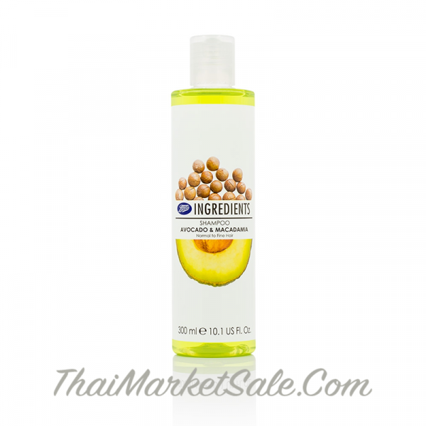 "Boots Ingredients Shampoo for Fine & Fragile Hair ""Avocado & Macadamia"" / Шампунь Для Волос ""Авокадо и Макадамия"" ,300 мл"